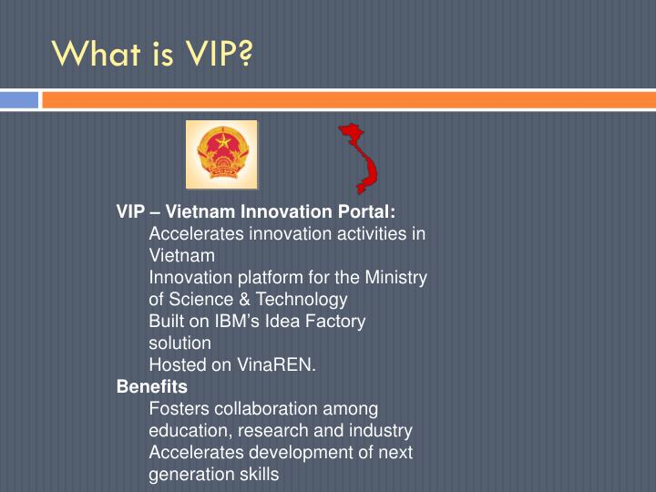 What is VIP?