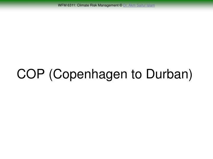 COP (Copenhagen to Durban)