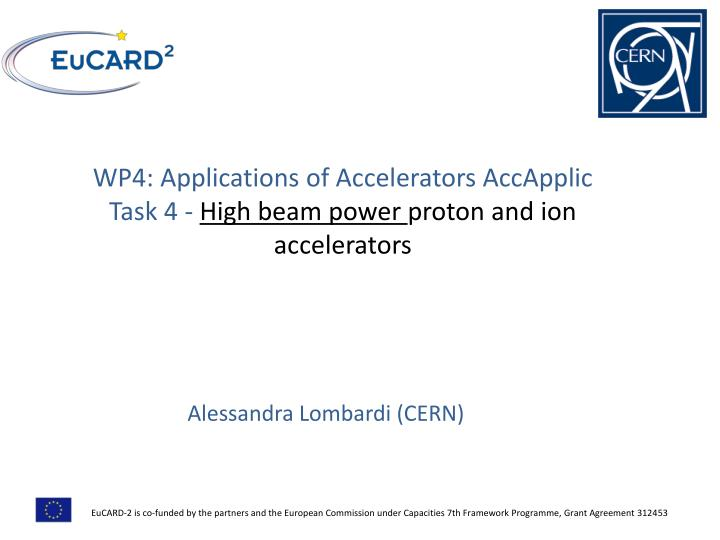 WP4: Applications of