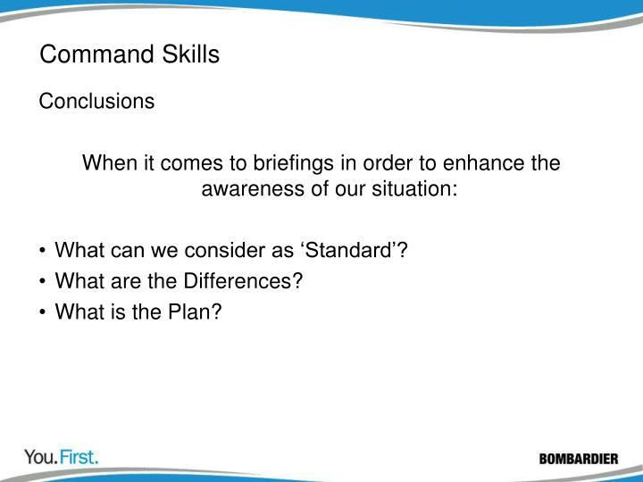 Command Skills