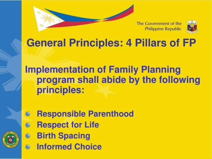 General Principles: 4 Pillars of FP