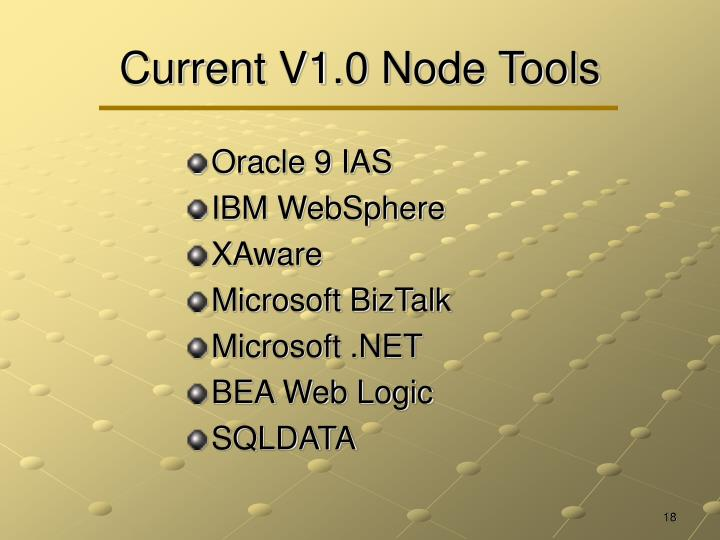 Current V1.0 Node Tools