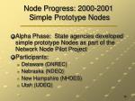 node progress 2000 2001 simple prototype nodes