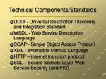 technical components standards