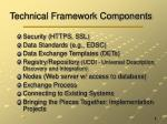 technical framework components