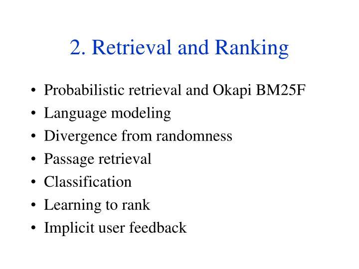 2. Retrieval and Ranking