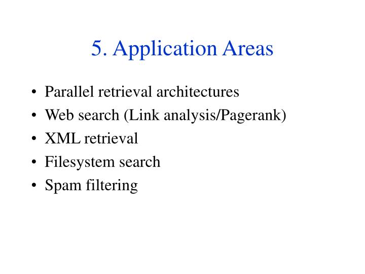 5. Application Areas