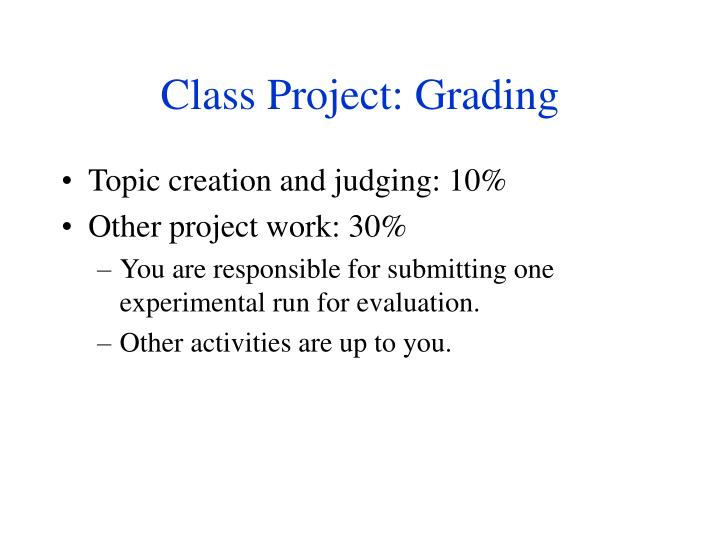 Class Project: Grading