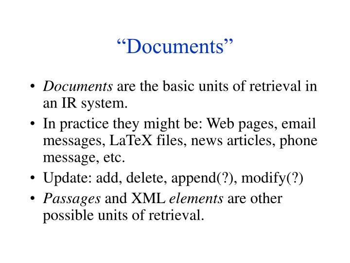 """""""Documents"""""""