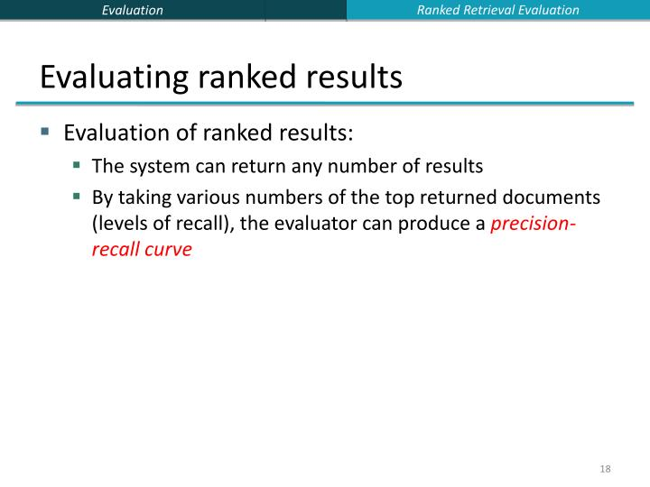 Ranked Retrieval Evaluation