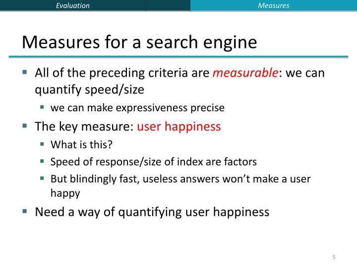 Measures