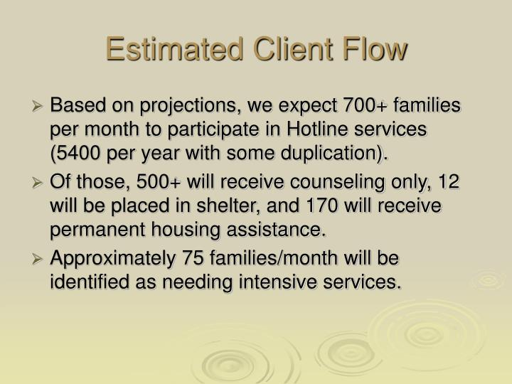 Estimated Client Flow