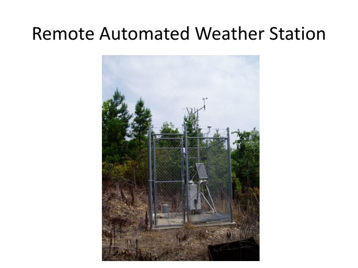 Remote Automated Weather Station