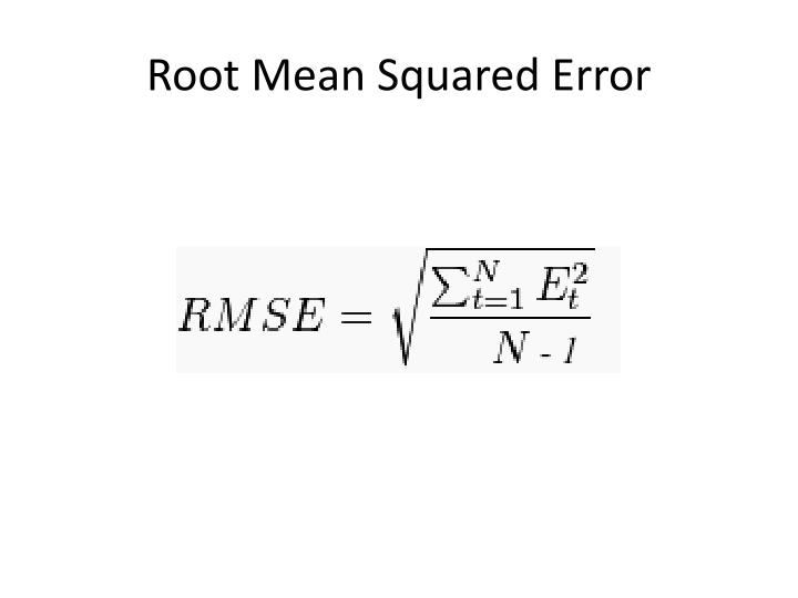 Root Mean Squared Error