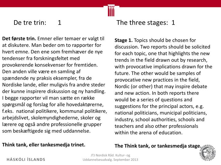De tre trin:1