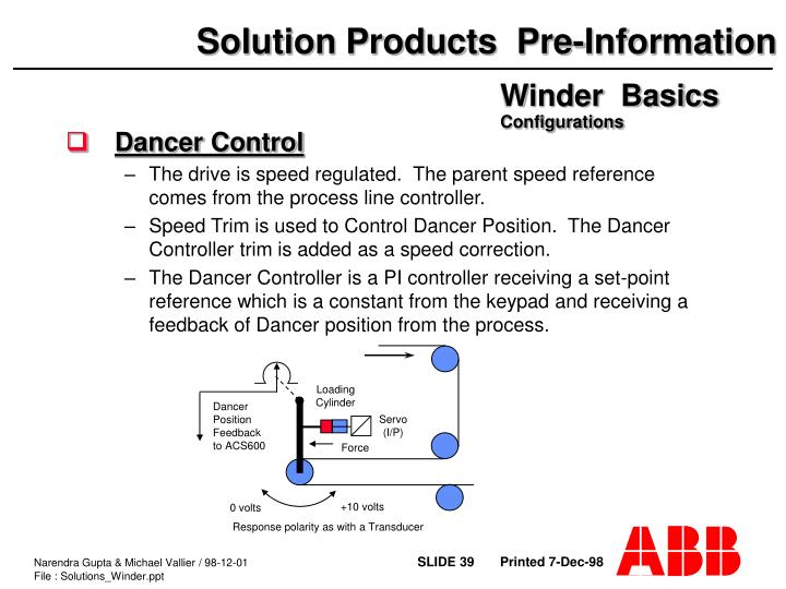 Dancer Control