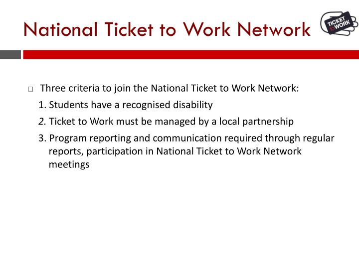National Ticket to Work Network