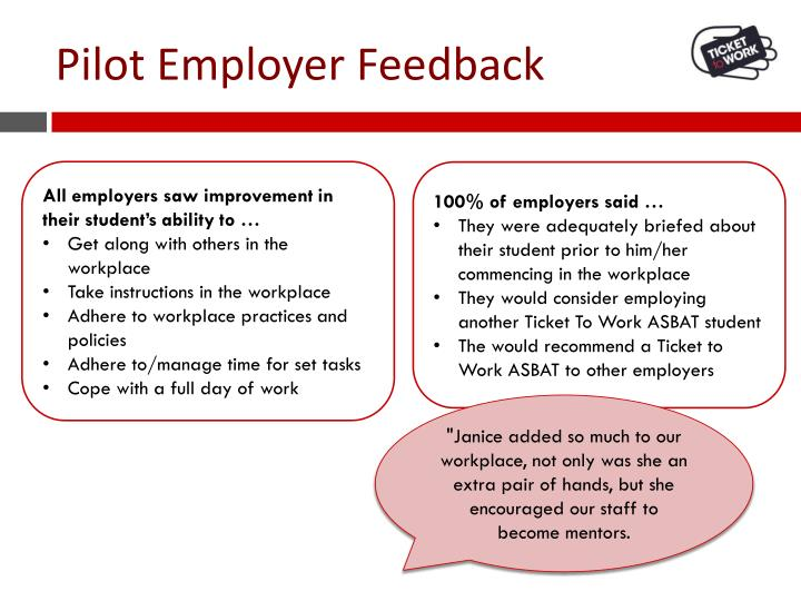 Pilot Employer Feedback