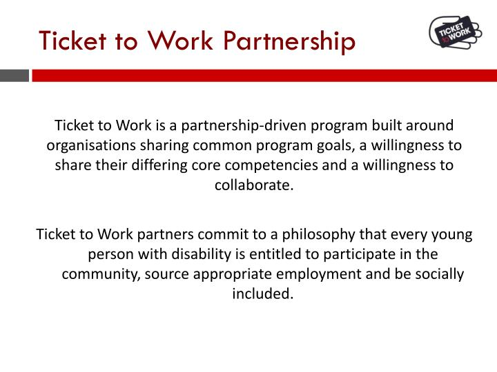 Ticket to Work Partnership
