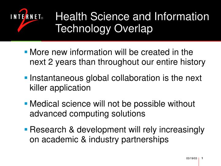 Health science and information technology overlap