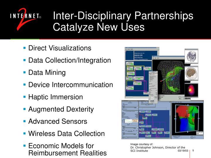 Inter-Disciplinary Partnerships Catalyze New Uses