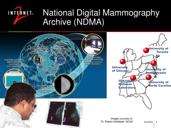 National Digital Mammography Archive (NDMA)