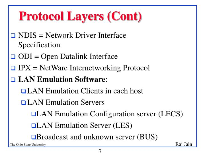 Protocol Layers (Cont)