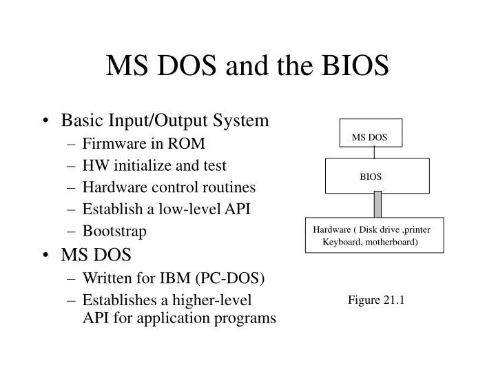 Ms dos and the bios