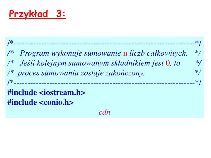 Przykład  3: