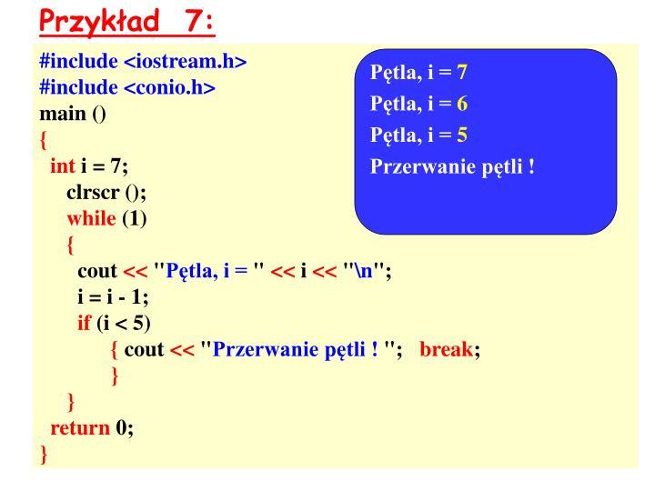 Przykład  7: