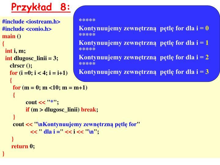Przykład  8: