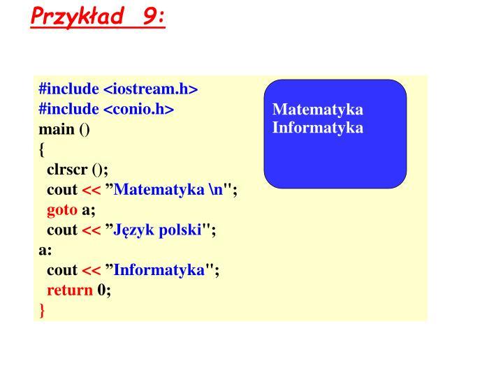 Przykład  9: