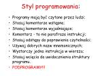 styl programowania