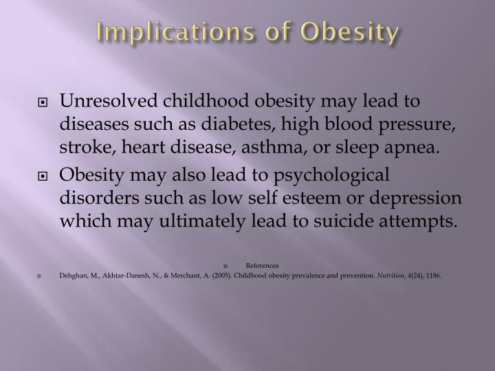 Implications of Obesity