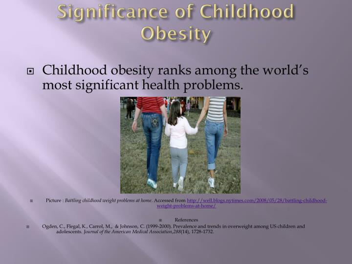 Significance of Childhood Obesity