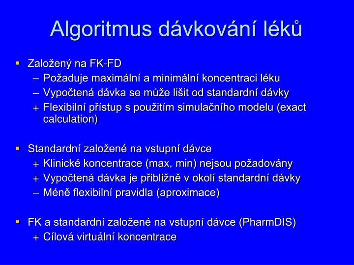 Algoritmus dávkování léků