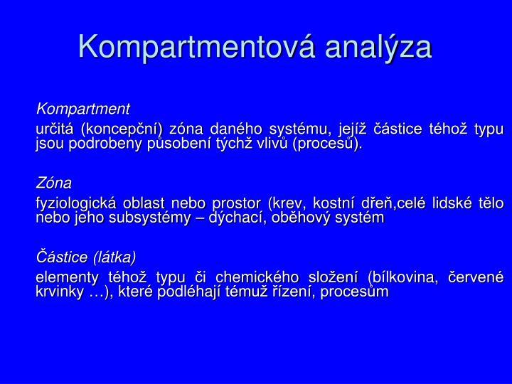 Kompartmentová analýza