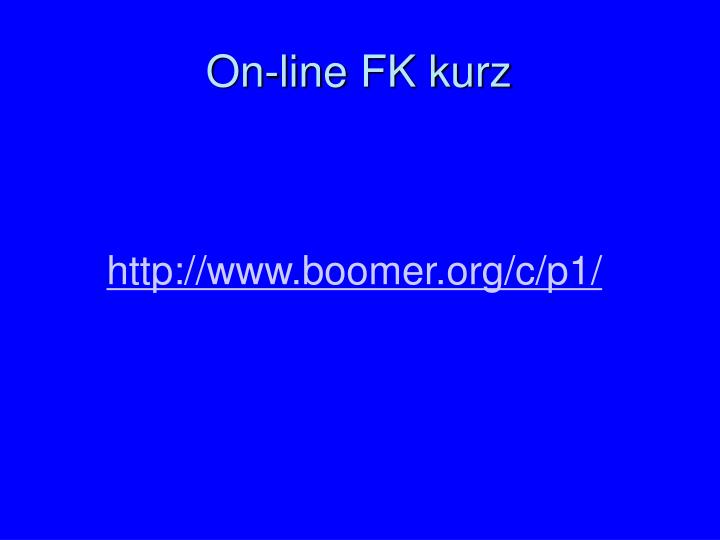 On-line FK kurz