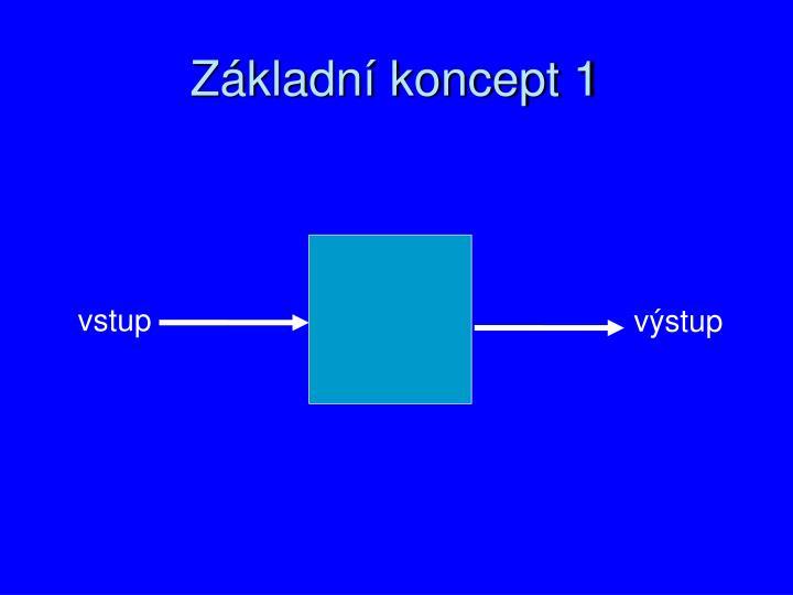 Základní koncept 1