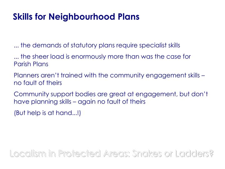 Skills for Neighbourhood Plans