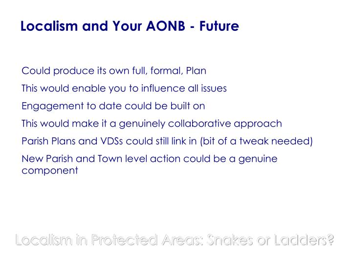 Localism and Your AONB - Future