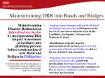 mainstreaming drr into roads and bridges
