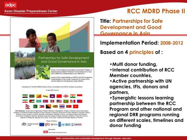 RCC MDRD Phase II