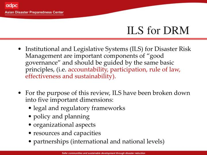 ILS for DRM