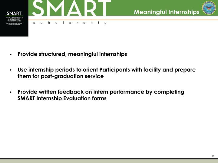 Meaningful Internships