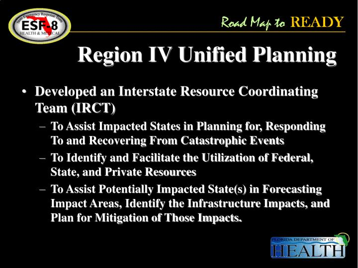 Region IV Unified Planning