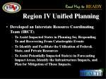 region iv unified planning
