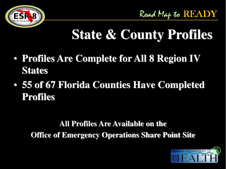 State & County Profiles