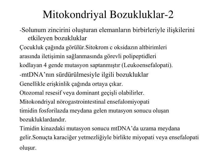 Mitokondriyal Bozukluklar-2