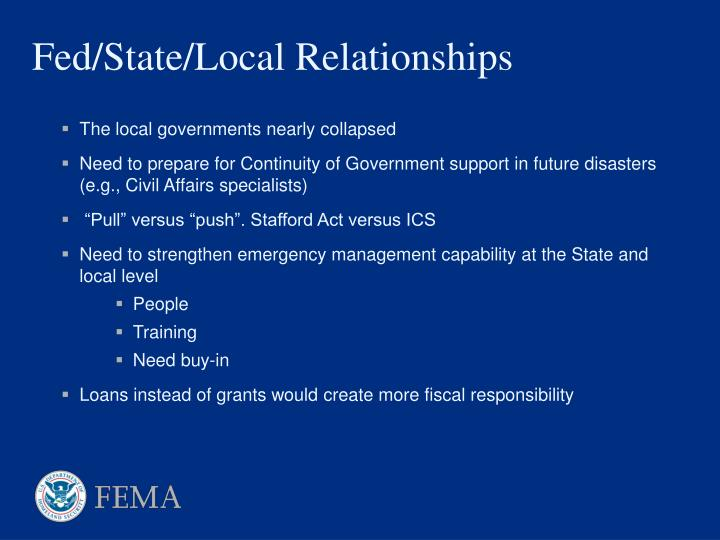 The local governments nearly collapsed